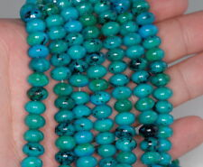 8X5MM  CHRYSOCOLLA GEMSTONE RONDELLE LOOSE BEADS 7.5""