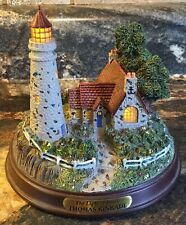 Thomas Kinkade The Light Of Peace Lighted Figurine Cottage Lighthouse