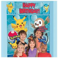 POKEMON WALL BANNER DECORATING KIT (5pc) Happy Birthday Party Supplies w/ props