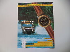 advertising Pubblicità 1991 CAMEL TROPHY WATCH AUTOMATIC