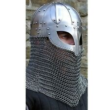Historial Medieval Viking Helmet Battle Armor+18G MS Steel and Chainmail