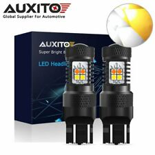 AUXITO 7443 7444 W21/5W LED White Amber Turn Signal Daytime Running Light Bulb