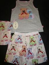 Peter Alexander Girls Teddy Set summer pyjamas Size 8