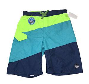 ZeroXposur Board Shorts Swim Trunks Boys Size XL Neon Color Block Cargo