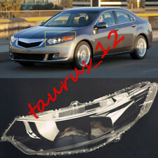 Left Side transparent Headlight Cover + Glue Replace For Acura TSX 2009-2013-JW