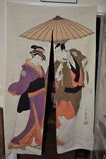 Nice Tapestry Textile Linen Batik Door Curtain Japanese Japan 60X33 Wall Art