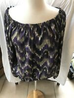 Womens Michael Kors abstract off shoulder top Large