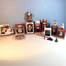 HALLMARK LOT OF 8 Christmas Decorative Figurines Keepsake Ornaments Original Box