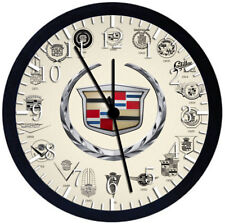 Cadillac Black Frame Wall Clock Nice For Decor or Gifts W440