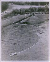 LG779 1972 Orig Grant Haller Photo HOOD CANAL OIL SPILL Iberville Taker Clean-Up