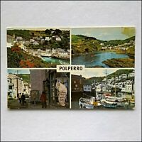 Polperro 4 Views Lansallos Street Harbour General View 1976 Postcard (P429)