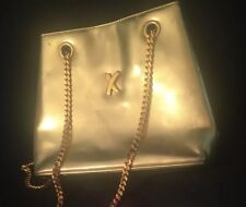 Paloma Picasso Gold Leather Snap Closure Handbag- NEW- Famous Gold Chain Strap