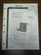 Quasar Service Manual for Model GF3164XE Stereo Cassette Player