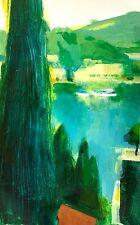SIMON SHAWN ANDREWS Mediterranean ocean summer impressionist painting