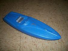 "1950s Blow Mold Speed Boat Motorboat #7 Blue 15"" long"