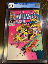 New Mutants Annual #2 CGC 9.6 White Pages - 1st Appearance of Psylocke