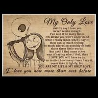 Sally And Jack My Only Love Just To Say I Love You Satin Landscape Poster