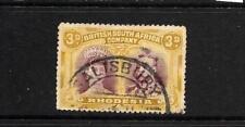 RHODESIA  1910-13   3d   DOUBLE HEAD   FU   SG 134
