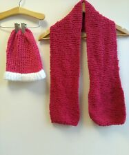 Pink Soft Knit Hat and Scarf Set <B2795