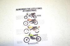 1979 Kawasaki Mini Bike Motorcycle Brochure NOS. 1 page.