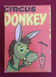 Vintage card game CIRCUS DONKEY Made in England by Arrow Games Ltd. No. 6374