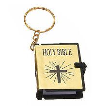 Mini Bible Keychains English HOLY BIBLE Religious Christian Jesus Cross Keyrings