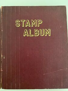 Thailand Stamp Album Collection 40s - 50s with descriptions (in Thai)