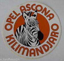 Aufkleber OPEL ASCONA B KILIMANDJARO Zebra Safari Rallye Oldtimer 70er Sticker