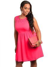 FD4 New Womens Pink Size 14 Sleeveless Cocktail Wedding Evening Party Race Dress