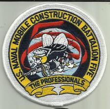 US NAVAL CONSTRUCTION BATTALION FIVE US NAVY PATCH SEABEES 5 SAILOR SOLDIER USA.