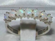 9ct White Gold Ladies Opal Anniversary Eternity Ring