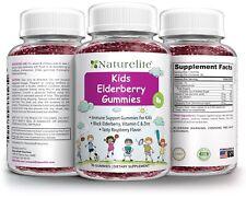 Black Elderberry Gummies Vitamin C Zinc Immune System Boost Kids & Adults 90 Ct.