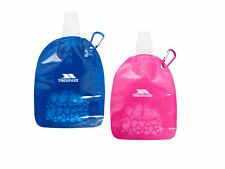 Trespass 350ml Collapsible Water Bottle BPA Free with Carabiner Clip