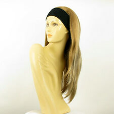 headband wig woman long blond copper wick clear and chocolat ref: NIKITA 15613h4