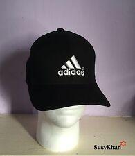 Black Unisex Adidas Sports Baseball Cap Running Hat 3 Stripes (40%off) Free Post