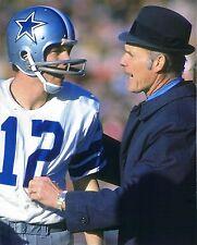 ROGER STAUBACH & TOM LANDRY 8X10 PHOTO DALLAS COWBOYS NFL FOOTBALL