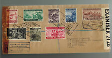1943 Poland Free Government in Exile Com Set # 3K9-3K16 Censored Cover to USA