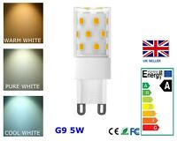 5W G9 LED 240v Bulb Replace 50W Halogen  WARM | PURE | COOL WHITE