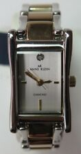 Anne Klein Ladies Silver and Gold with Diamond Dress Watch