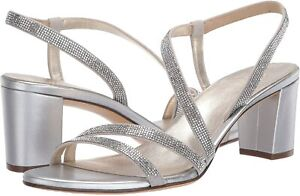 Naturalizer Women's Shoes Vanessa2 Open Toe Special Occasion, Silver, Size 7.5 w