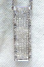 2.00ct Alargados Diamantes Ondulado Zen Collar 18 Quilates +