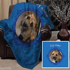 personnalisé bleu chien animal de compagnie couverture polaire Design