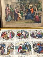 Puzzle Nouveau Testament Jeux de Société Lithographiée Jouet Antique French