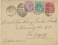 "2404 1902 mixed postage Queen Victoria/King Edward VII Duplex ""LECHLADE / 296"""