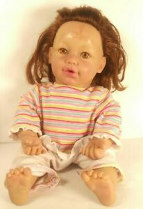 """Baby So Real Irwin Toys 2007 Reborn Style Baby Doll Hazel Eyes & Brown hair 16"""""""
