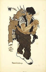 Original Vintage Imprimé Agriculteur Rescue Good Samaritain Voiture Choc 1910s