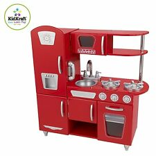 NEW Real Life Like Cool Red Retro Kitchen For Little Chefs Wanna Be By KidKraft