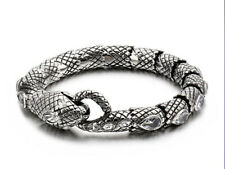 Pulseras para hombre de diseñador pulsera serpiente de dragón para hombre gótico plata esterlina 925