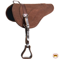 Hilason Natural Horsemanship Leather Bareback Western Treeless Saddle Pad U-P212