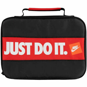 Nike Just Do It Bumper Sticker Fuel Pack Lunch Box Insulated Snack Bag - Black
